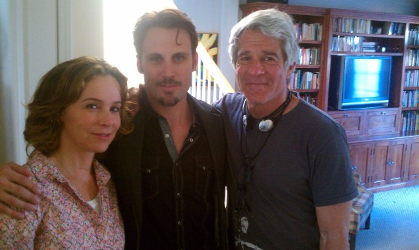 "Alex with actress Jennifer Grey and director, Michael Lembeck in Lifetime Television's ""The Bling Ring"" (2011)"