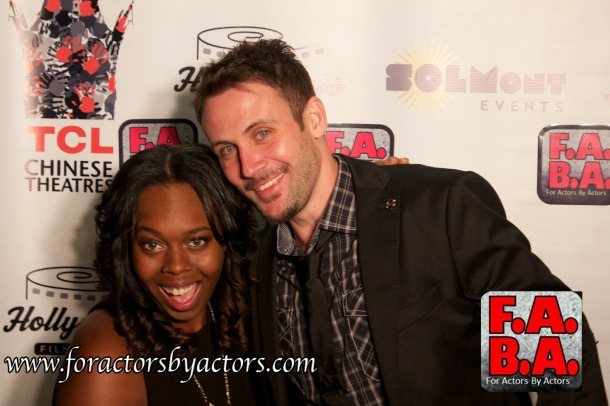 Alex with Asha Laroux at the F.A.B.A. Hollyshorts Screening 2014 at Mann Chinese Theaters in Hollywood, CA.
