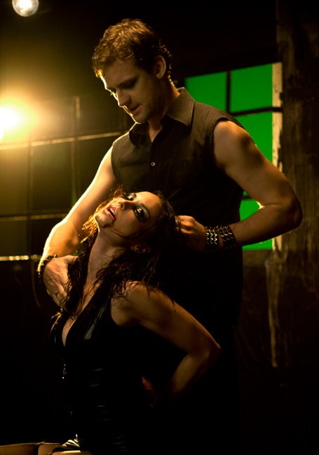 "Actor Callum Blue appears with Auradrone's Mack in the music video for ""The Escape"" from the Bleeding Edge (2011) album"