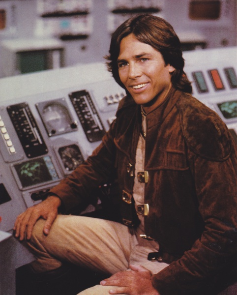 Hatch as Captain Apollo in the original Battlestar Galatica (1978).