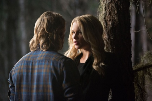 "The Originals -- ""Crescent City"" -- Image Number: OR113b_0130.jpg -- Pictured (L-R): Chase Coleman as Oliver and Claire Holt as Rebekah -- Photo: Bob Mahoney/The CW -- © 2014 The CW Network, LLC. All rights reserved."