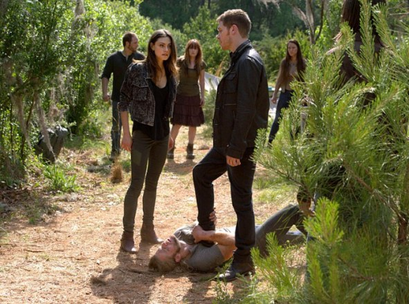"The Originals -- ""Alive & Kicking"" -- Image Number: OR202a_0239.jpg -- Pictured (L-R): Phoebe Tonkin as Hayley, Joseph Morgan as Klaus and Chase Coleman as Oliver -- Photo: Curtis Baker/The CW -- © 2014 The CW Network, LLC. All rights reserved."